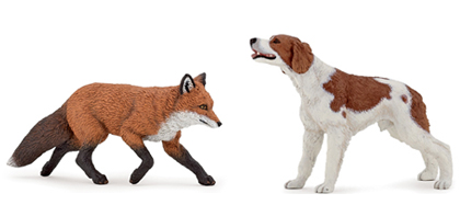 Figurines : renard et chien