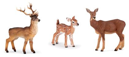 Figurines cerf - biche - faon