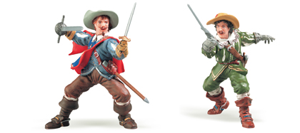 Figurines : Athos et D'Artagnan