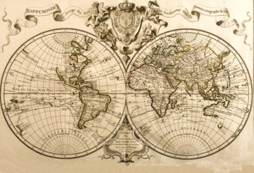 Mappemonde à l'usage du roi par G. Delisle
